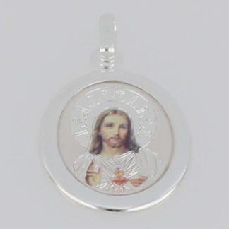 MEDALLA DE PLATA CORAZON DE JESUS