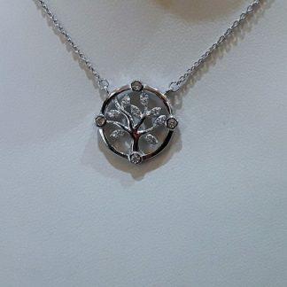 """Collar de plata """"árbol de la vida"""""""
