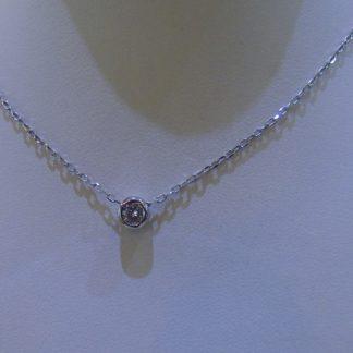 Collar de plata con circonita