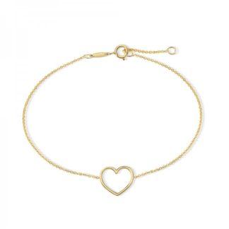 Corazón oro amarillo